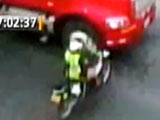 Policewoman Survives Collision with a Semi Truck view on ebaumsworld.com tube online.