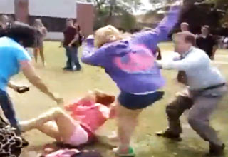Principal Takes Down Fat Fighting Girl view on ebaumsworld.com tube online.