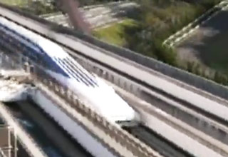 Japanese Train Goes 300 MPH