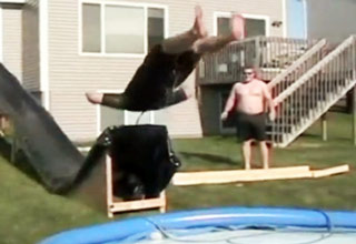 Backyard Water Slide Fail