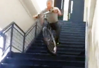 Bike Stair Incident FAIL