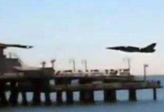 Jet Flies Very Low Over Santa Monica Pier view on ebaumsworld.com tube online.