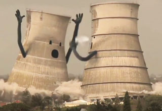Sad Collapsing Cooling Towers Video Ebaum S World