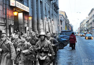Cool Then and Now Superimposed WWII Pictures