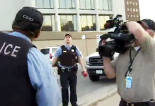 Police To Reporter: Your First Amendment Right Can Be Terminated view on ebaumsworld.com tube online.
