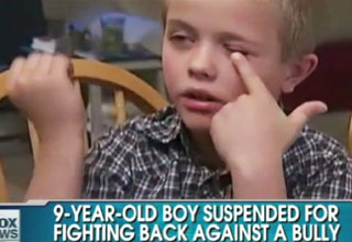9 year old suspended fighting back against bully video ebaum 39 s world. Black Bedroom Furniture Sets. Home Design Ideas