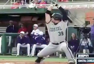 Coastal Carolina Batting Stance Guy