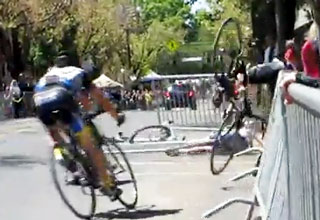 Bike Race Crash
