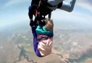 Skydiving Gone Bad Grandma Falls Out of Tandem Harness