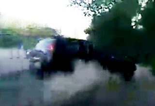SUV Crashes Into Tree After Failed Overtaking