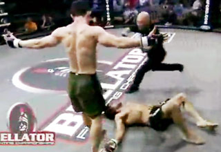 Chad Leonhardt's Stunning Knockout with a Knee!