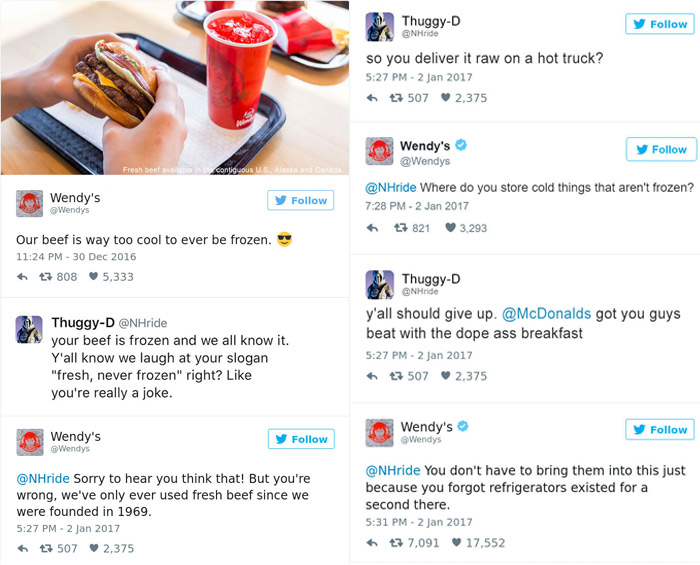 Wendys Is Roasting People On Twitter And Its Savage Funny - 24 hilarious comebacks wendys twitter account
