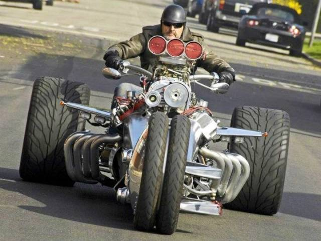 16 - Massive motorcycle with massive engine and air intake