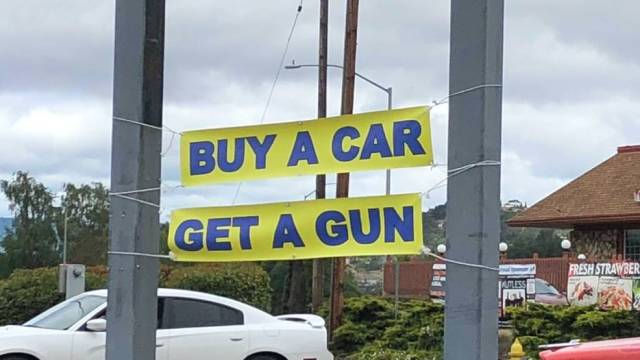 25 - buy a car get a gun