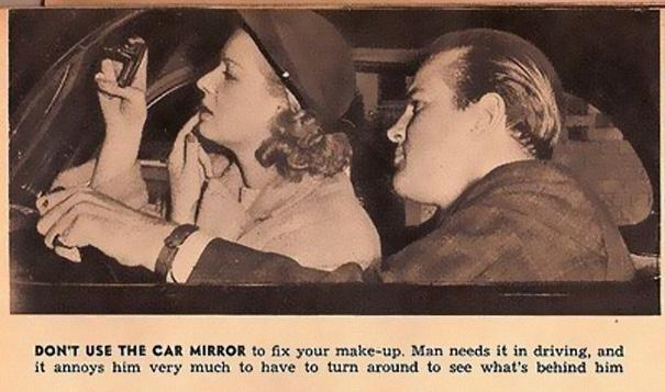 2. Don t use the car mirror