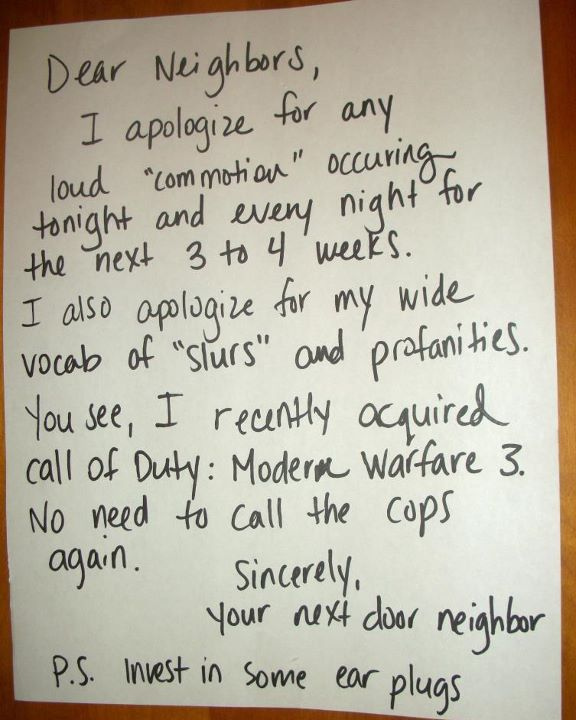 Bitter Neighbors Write The Funniest Notes Funny Gallery Ebaum S