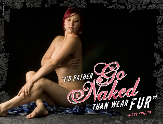 Excellent idea Rather naked than wear fur opinion, you