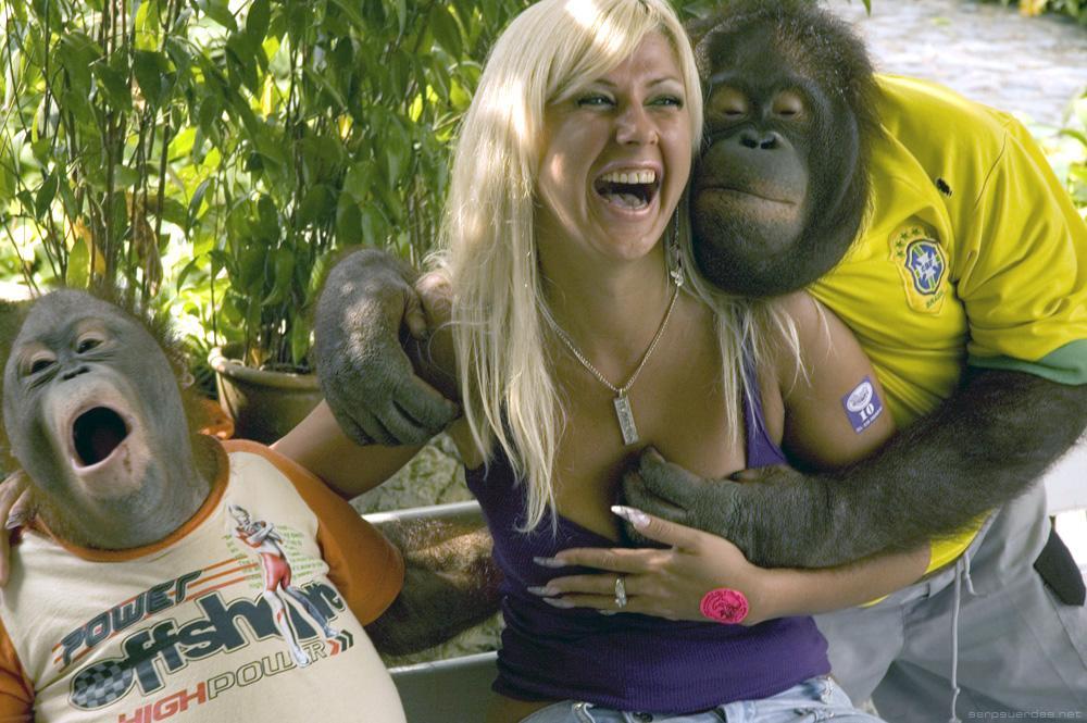 Girl with orangutan titties nude congratulate