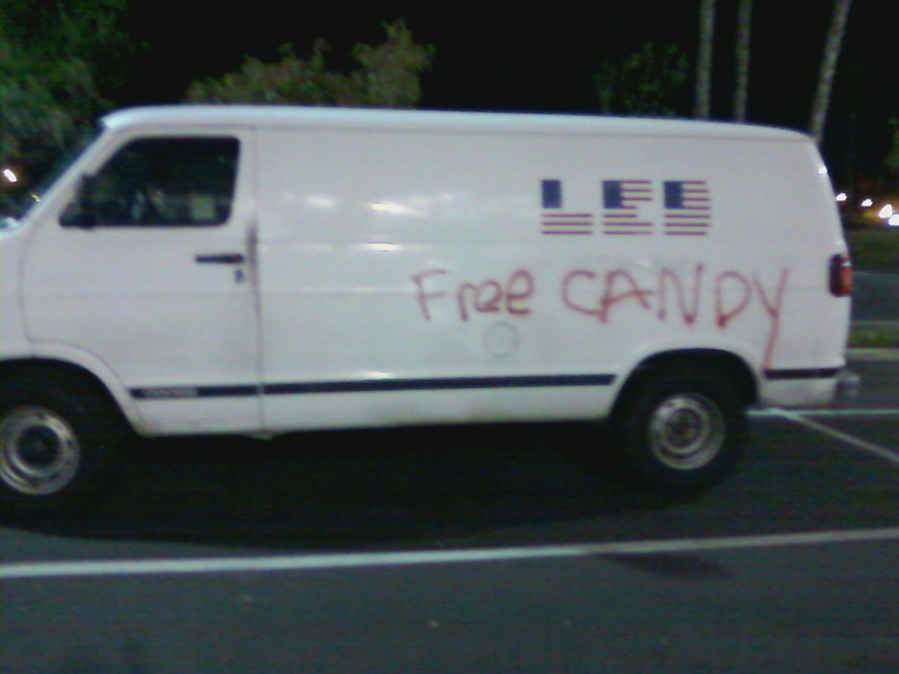 Windowless Van Free Candy