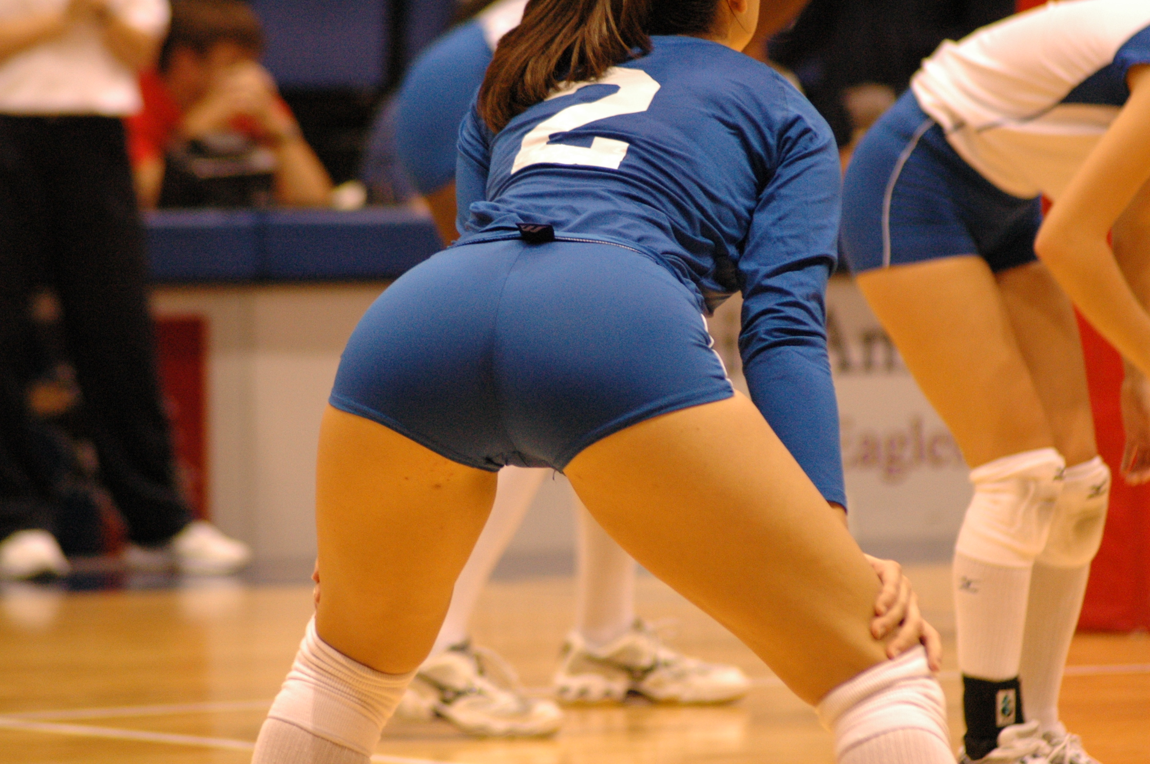 Through volleyball spandex ass see