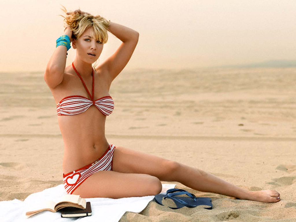 Celebrity Beach Lovers: The worlds hottest Kaley Cuoco