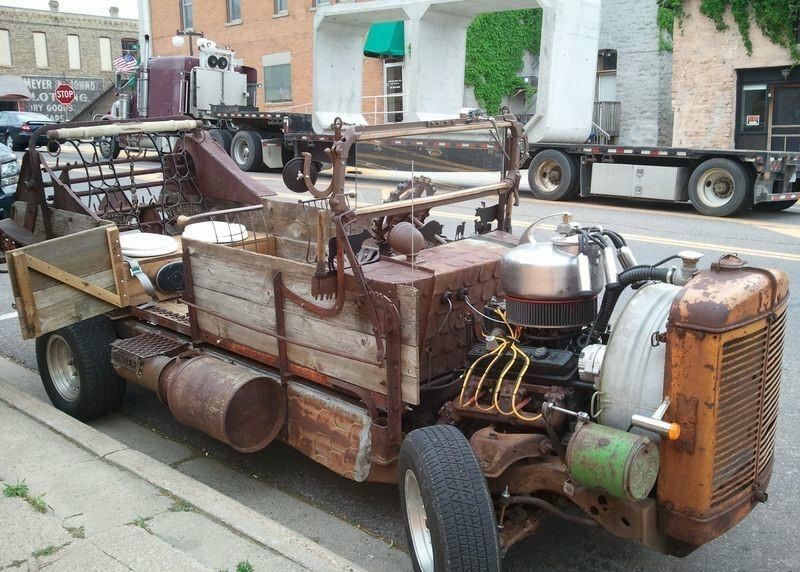 Cool junk ride made out of old farm equipment gallery - Cool stuff made from junk ...