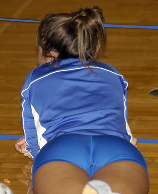 Through ass see volleyball spandex