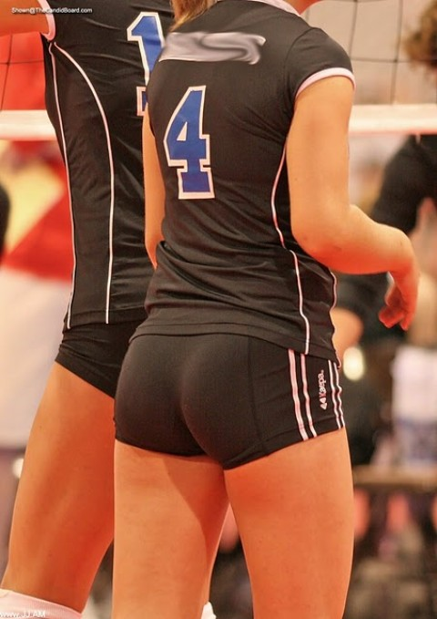 Hot naked girls spandex volleyball shorts