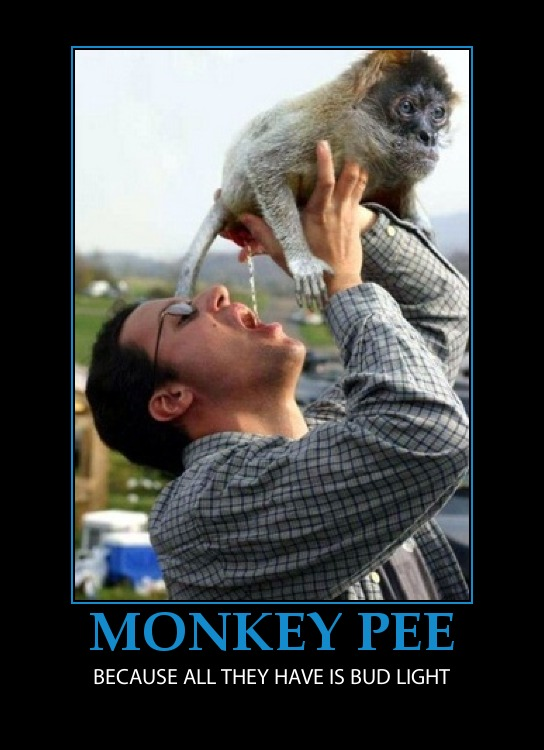 Apologise, Monkey piss beer