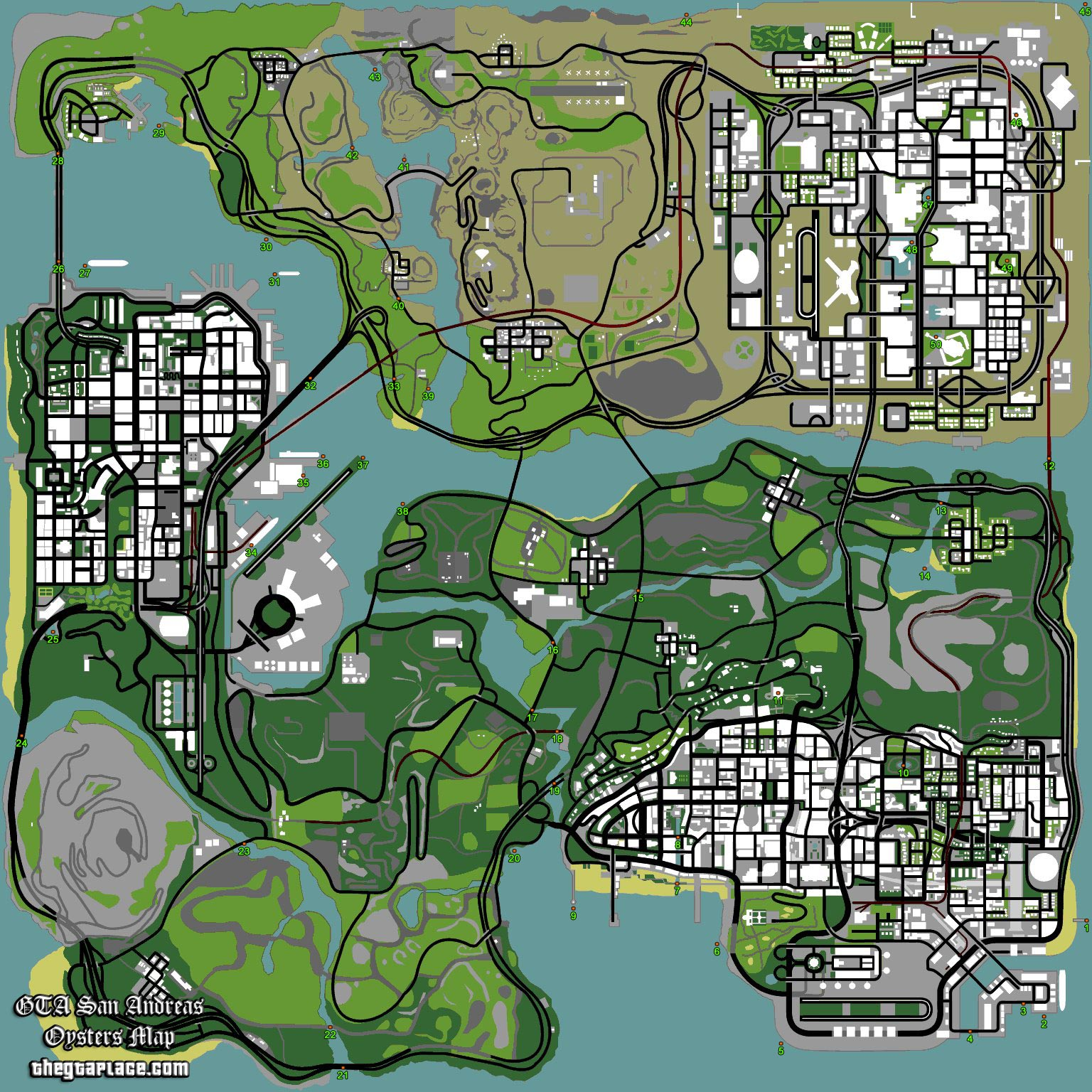 GTA San Andreas hidden package location maps  Gallery  eBaums World