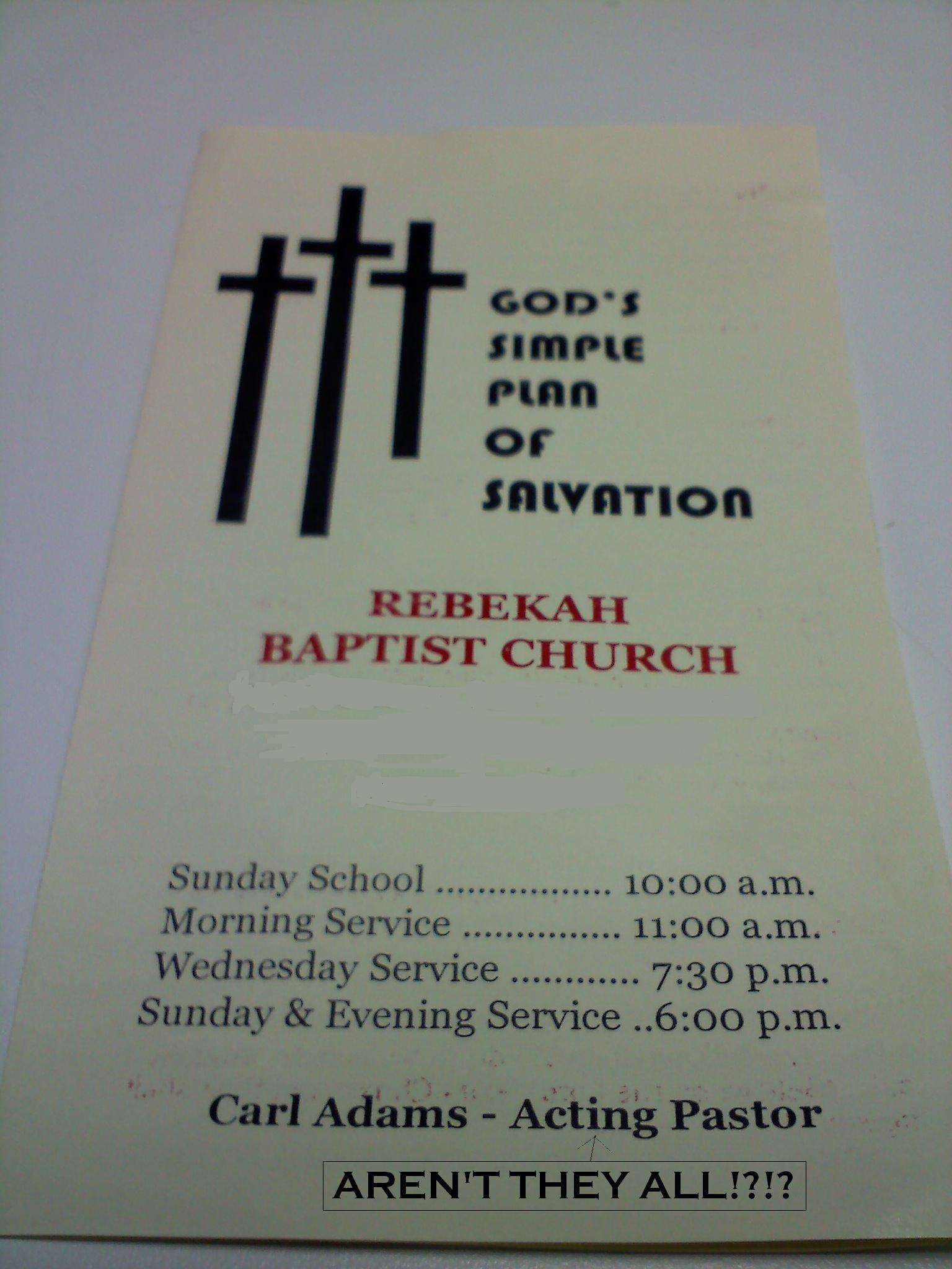 Church Pamphlet - Picture | eBaum's World