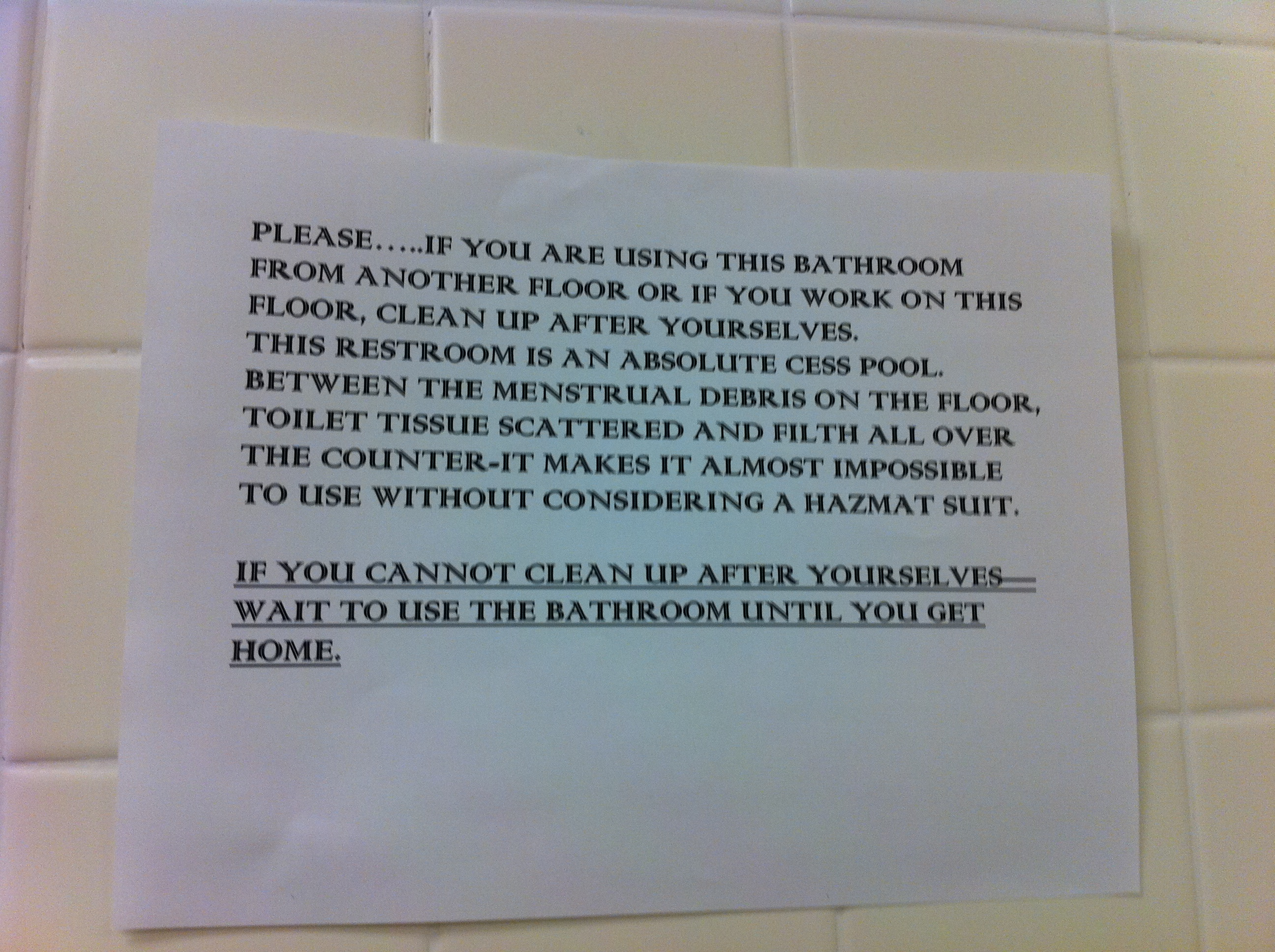 Funny Bathroom Sign Picture Ebaum S World