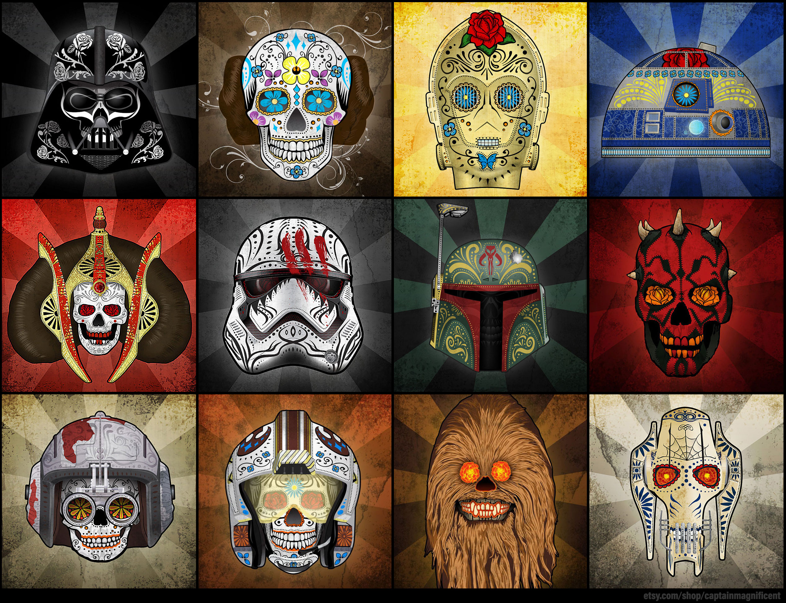 8 - Star Wars Day of the Dead by Captain Magnificient