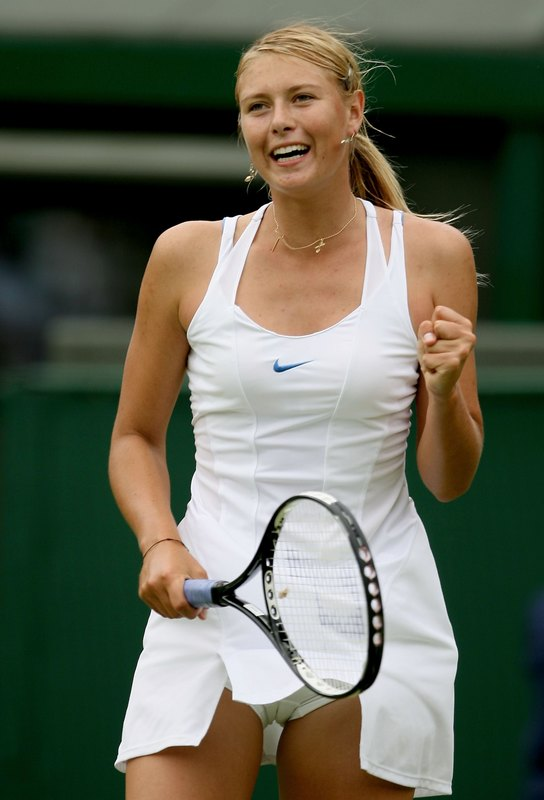 Description: Sharpova tennis star Camel Toe