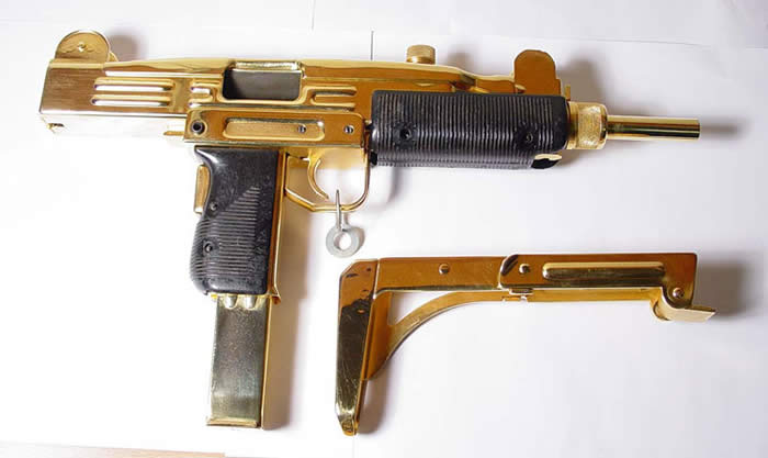 gold plated uzi picture ebaums world