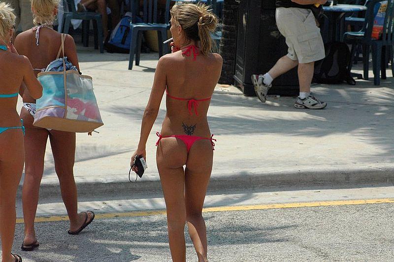 Butt floss bikini contest