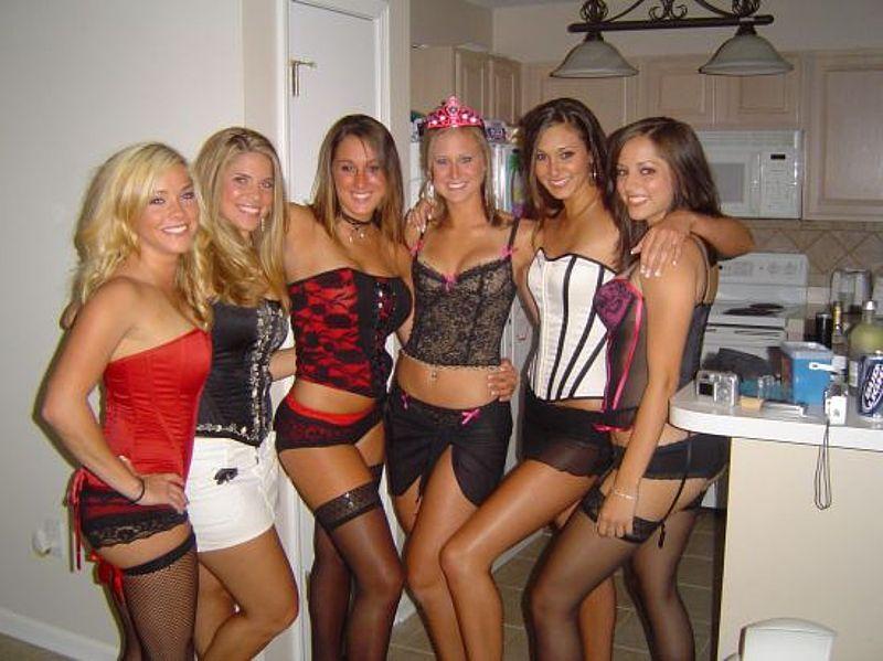Topless sorority girls