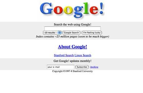 Google 1997-98