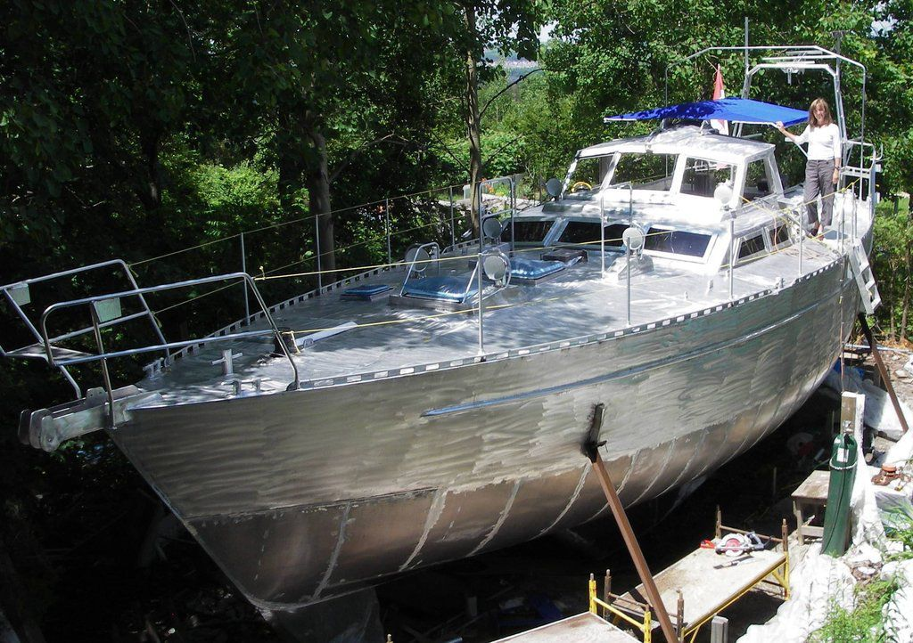 Couple Builds 45 Aluminum Sailboat In Back Yard Gallery