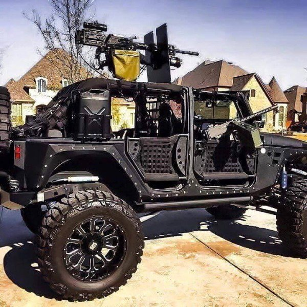 21 - heavily armed off road vehicle