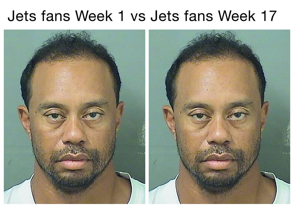 22 - Tiger Woods mugshot meme about jets fans