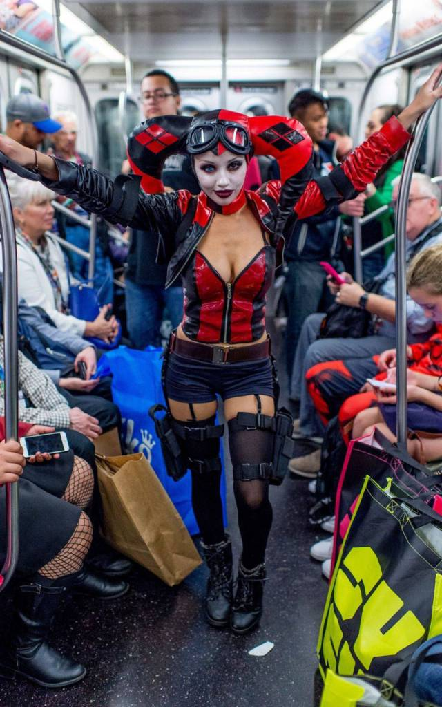 9 - Cosplayer on the subway