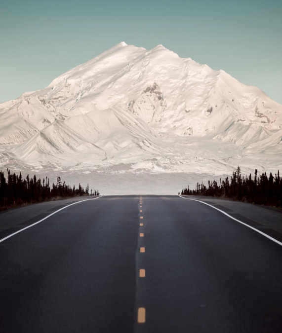 5 - This amazing road leads to Mount Drum in Alaska.