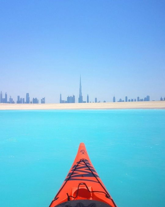 12 - The view of Dubai from a kayak looks amazing.
