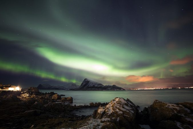 19 - The Lofoten Island in Norway have a perfect view of the Northern Lights