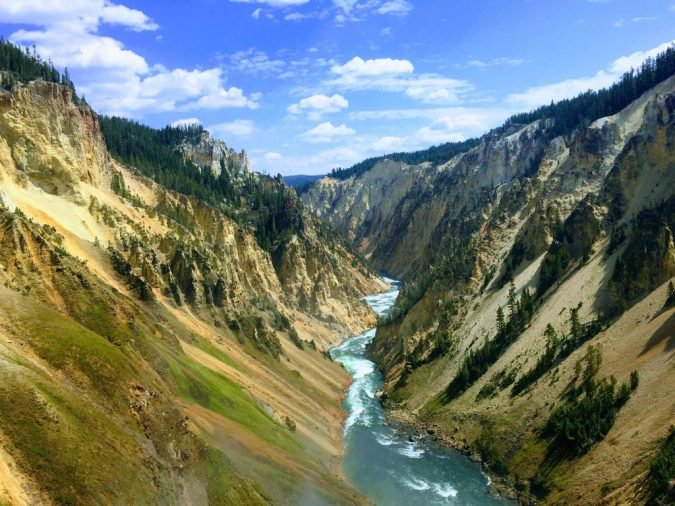 20 - Yellowstone National Park in Wyoming is crazy beautiful.