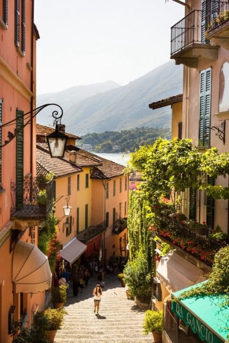 22 - A side street in Bellagio, Italy looks perfectly inviting.