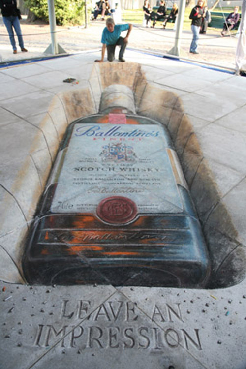 More Trippy D Chalk Drawings Gallery EBaums World - 17 amazing works of 3d street art