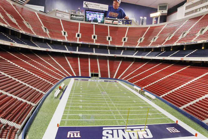 Retired New York Giants Fan Builds Giants Stadium Replica