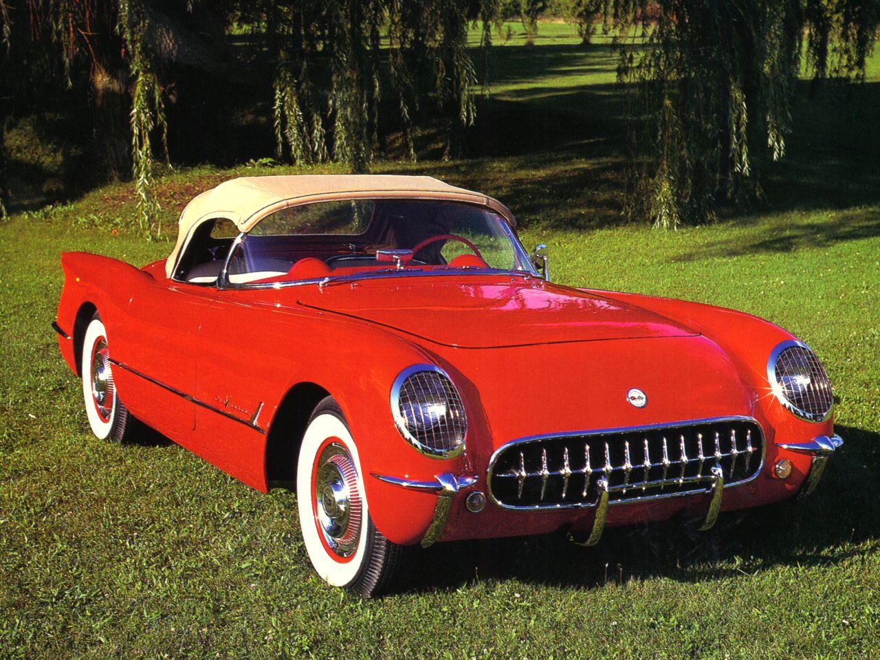 1955 dodge royal lancer convertible cream black fvr cars - 30 1955 Chevrolet Corvette 265 V 8 Roadster Red